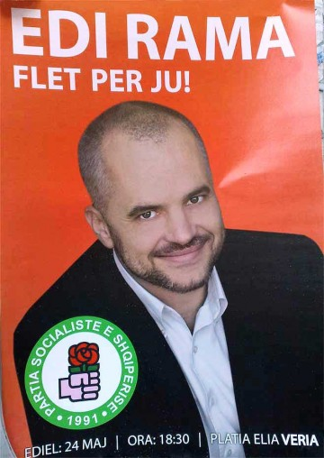 Wahlplakat der PS