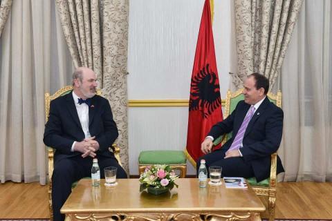 Thomas Schirrmacher beim albanischen Staatspräsidenten Bujar Nishani