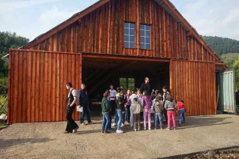 Junge Handwerker aus dem Erzgebirge haben diesen Bau komplett neu erstellt – vom  Fundament bis zum Dach