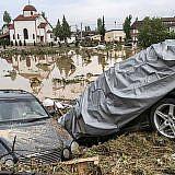 Überschwemmungen in Skopje, Mazedonien