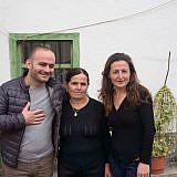 Valter mit seiner Mutter und Schwester