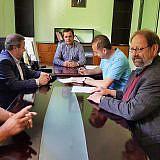 Gespräch im Rathaus von Dardhas