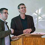 Dietmar Schöer und Saimir Rakipllari (links) in Buzaishte