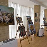Mit einer Ausstellung unterstützte der Pogradecer Künstler Taso die Veranstaltung