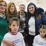 Mitarbeiterinnen und Kinder aus dem Internat in Bishnica