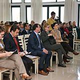 Ehrengäste: Bürgermeister Eduart Kapri, Walter Glos, KAS, und Botschafterin Susanne Schütz