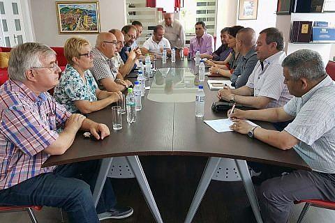 Projektplanung im Rathaus Pogradec