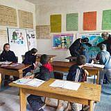 Schulunterricht, heute mit Gästen aus Deutschland