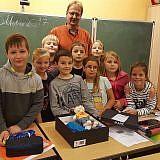 Die 3. Klasse der Grundschule Bobitz, mit Klassenleiter Herrn Hauk