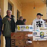 … Entladen in unserem Lager in Pogradec
