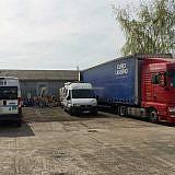 Der mazedonische LKW bereit zur Abfahrt