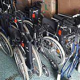Gespendete Rollstühle