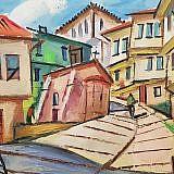 Straße in der Altstadt von Ohrid