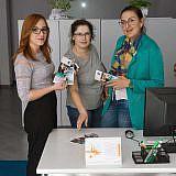 DA-Mitarbeiterinnen: Aurora Zeqo (Exekutivdirektorin), Valbona Balla (Leiterin Sozialarbeit), Diola Malasi (Psychologin)
