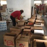 Vorbereitung der Hilfspakete