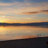 Abenddämmerung am Ohrid-See