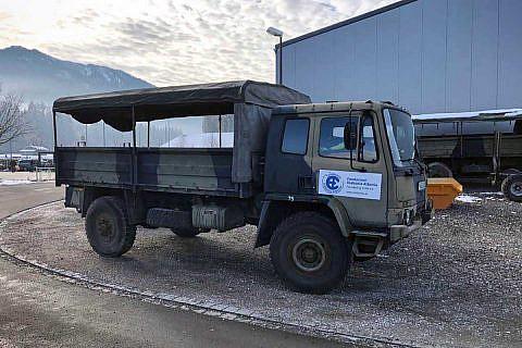 Der ehemalige Militär-LKW kam bei der  Weihnachtsaktion erstmals zum Einsatz