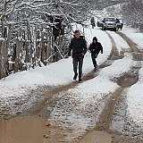 Am nächsten Morgen: Neuer Schneefall