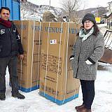Gespendete Kühlschränke für arme Familien
