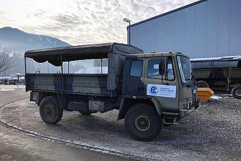 Auch der neue (gebrauchte) Offroad-LKW der DA kam bei der Weihnachtsaktion zum Einsatz