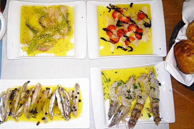 Frisch und attraktiv angerichtet: Seafood in einem Restaurant