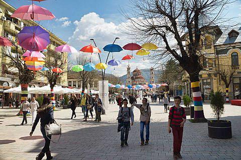 Fußgängerzone in Korça