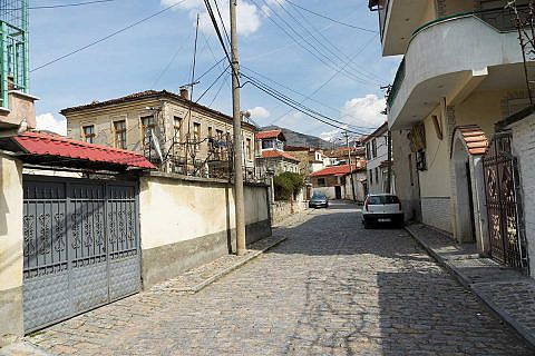 Korça, malerische Winkel in der Altstadt