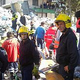 Einsatz der Pogradecer Feuerwehr in Durrës