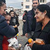 Aurora Zeqo und Team besuchen die Erdbebenopfer
