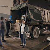 Der Diakonia-LKW ist abends wieder zurück in Pogradec…