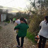 Hilfsgüterverteilung in Shijak, Gjepal und Laç
