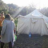 Notunterkunft im Garten
