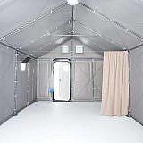 Blick ins Innere der Shelter