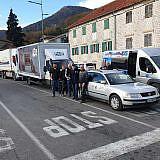 Der Hilfskonvoi unterwegs nach Albanien