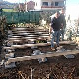 Am 15.01. begann der Aufbau der Shelter