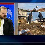 Auch das albanische Fernsehen berichtete über die Aktion