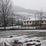 Am nächsten Morgen: Schnee in Bishnica