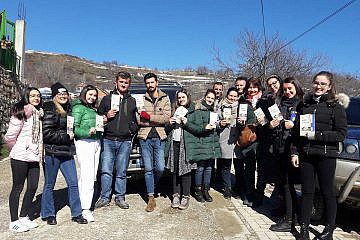 Das Jugendteam in Velçan