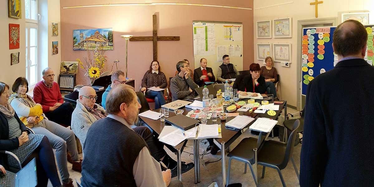 Workshop von CHW-Vorstand, Diakonia-Mitarbeitern und den startsocial-Coaches