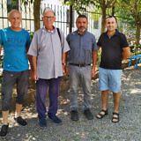 v.l.: Josef Lutter, Bischof Mons. Ottavio Vitale, Pastor Ate Sergio Armando Perez und Fatjon Pjetri