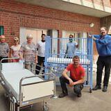 Abholen von Krankenhausbetten