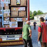 Beladen des Hilfstransports