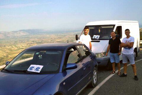 …und unterwegs zu den Bergdörfern bei Lezhë