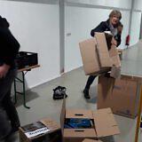 …packen unsere Helfer in Wismar