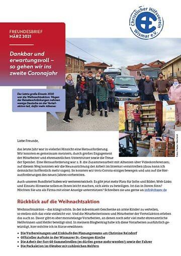 CHW Freundesbrief 2021-03