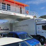 Unterwegs auf der Fähre in Montenegro…