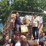 Familienpaket-Verteilung in Poroçan