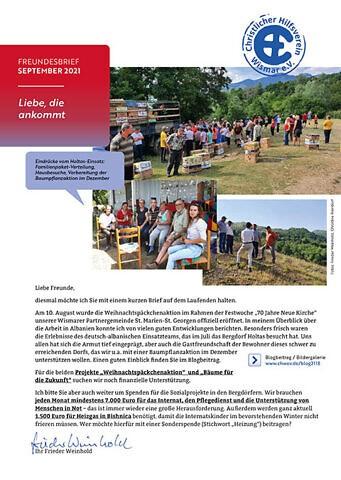 CHW Freundesbrief 2021-09