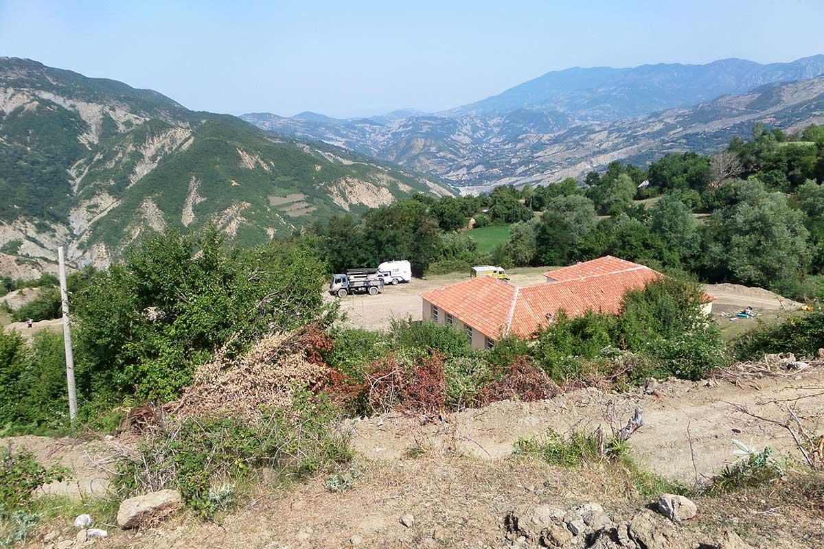 Erosionszonen rings um Holtas