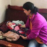 Lefterie Cani mit ihrem Baby